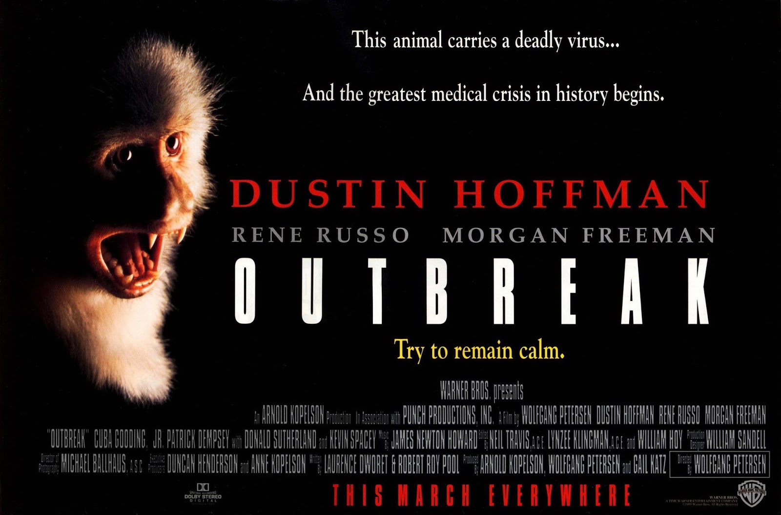 1995 Movie Posters: Happyotter: OUTBREAK (1995