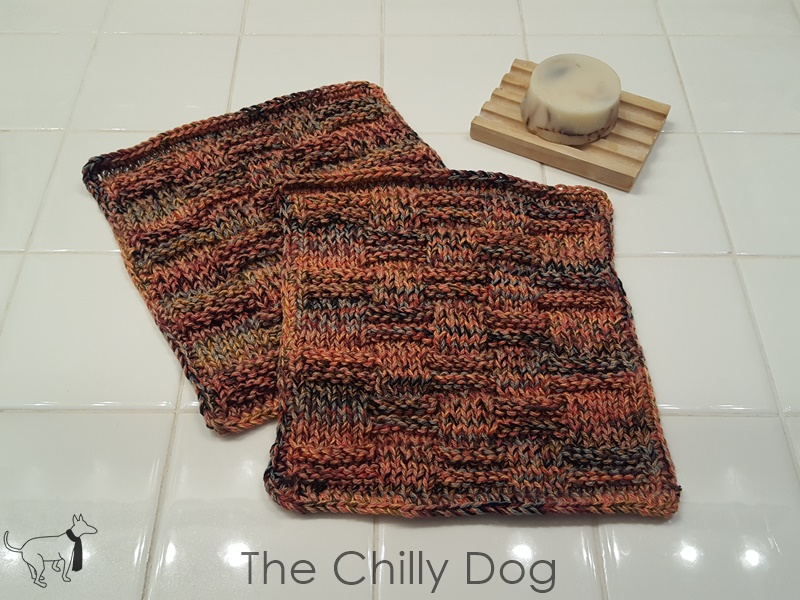 Easy Knitting Pattern Harvest Washcloth The Chilly Dog