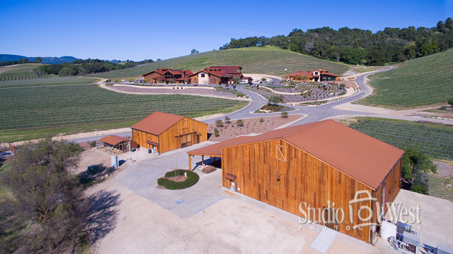 Halter Ranch Winery Drone Photography  - Studio 101 West Photography