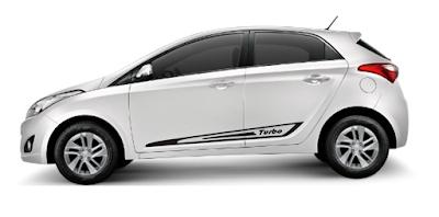 Adesivo lateral Turbo X11Auto para Hyundai HB20