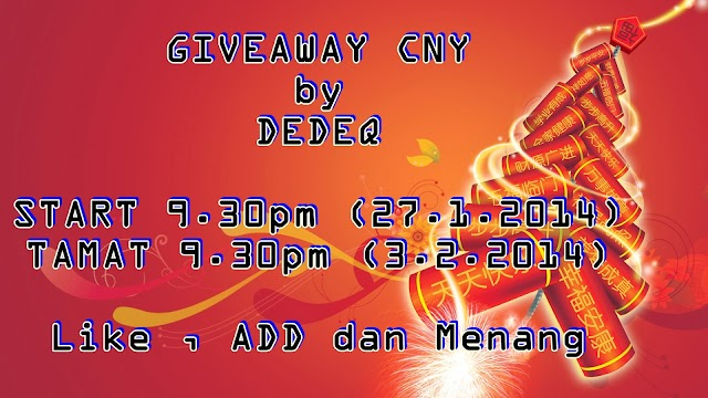GIVEAWAY CNY by DEDEQ