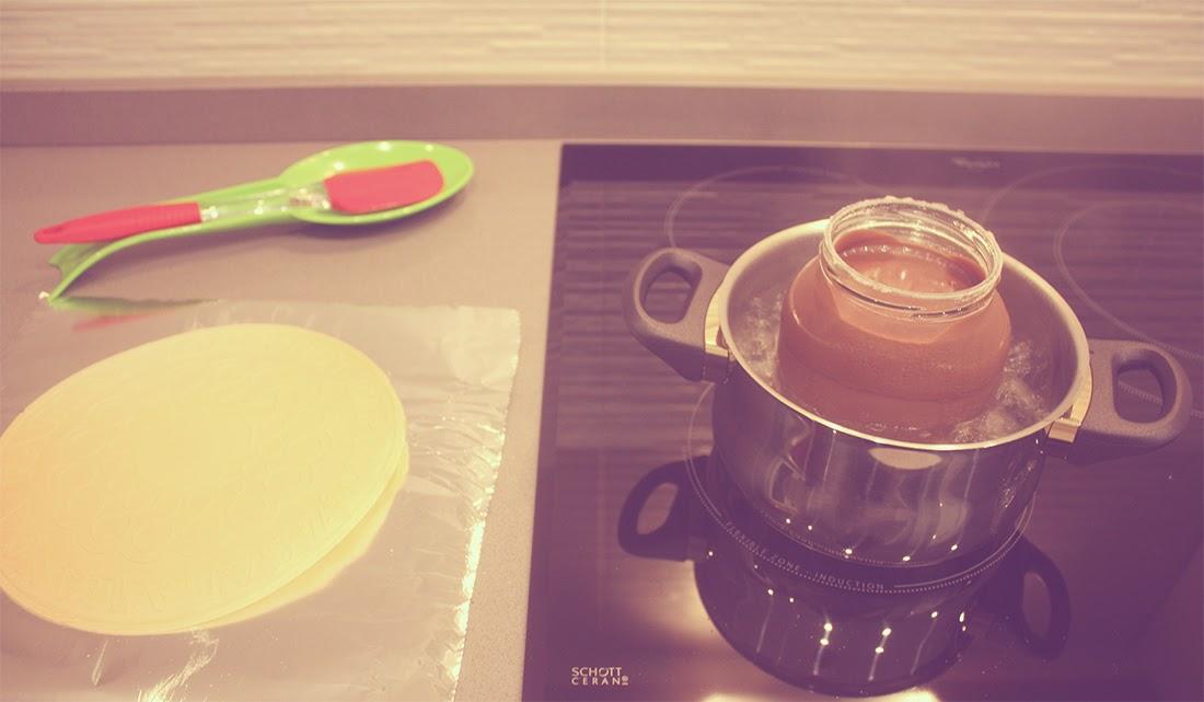 Calentar la crema de chocolate