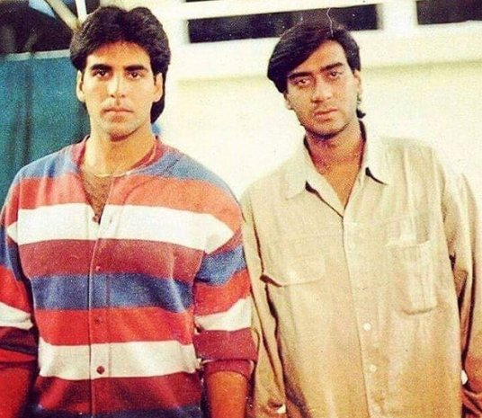 Old Photo: Ajay Devgan with Akshay Kumar