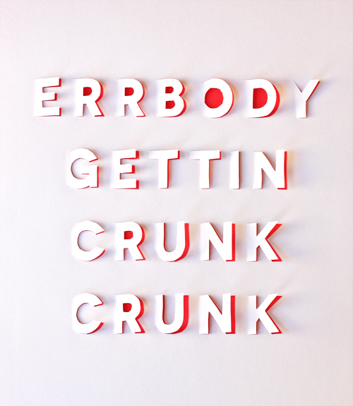 DIY posters with cut out lettering