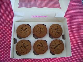Muffins rellenos de chocolate fundido