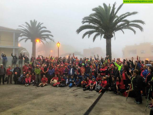 Más de 350 caminantes participaron en el IV Encuentro de Clubes de Senderismo de La Palma