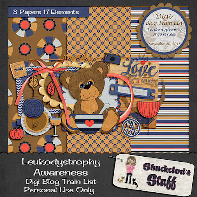 Digi Blog Train List Leukodystrophy Awareness Freebie
