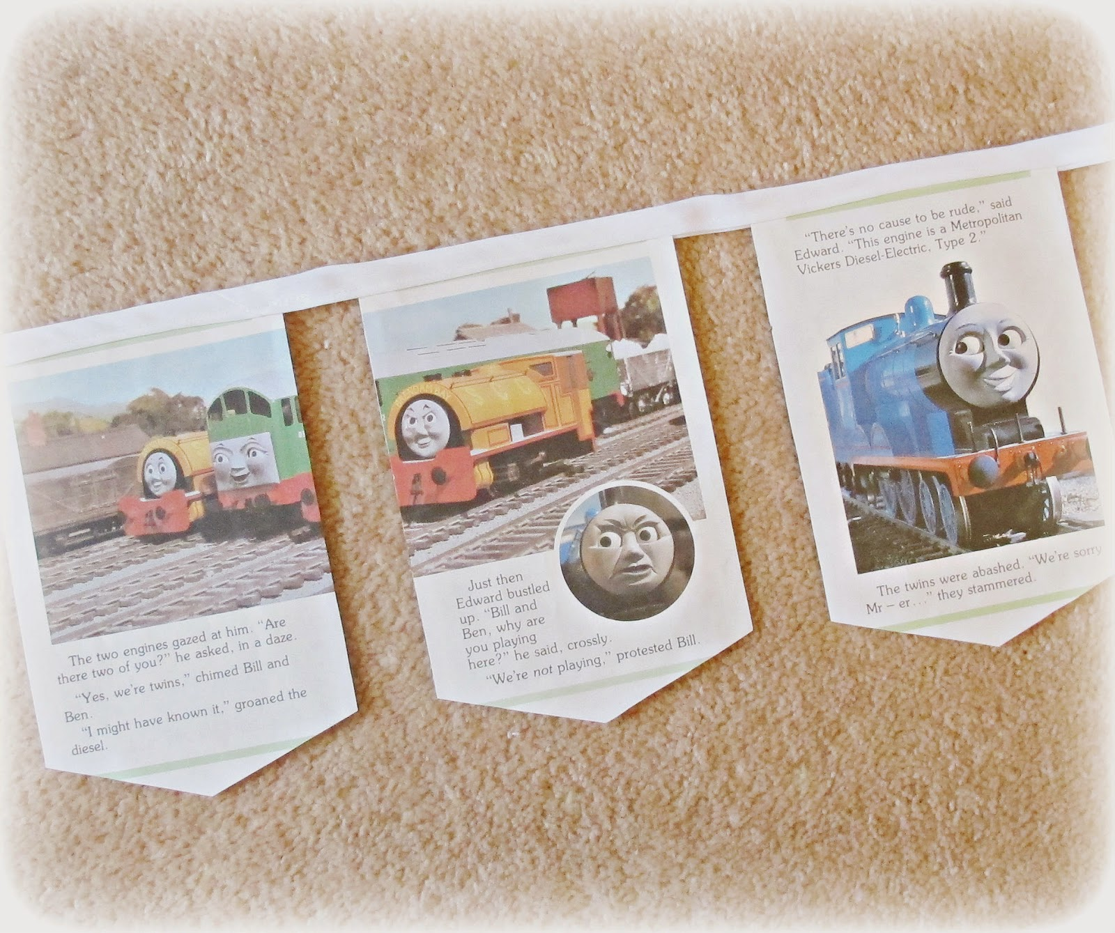 image children's bunting thomas the tank engine boco the diseasel boys boy's girls party decor decoration domum vindemia