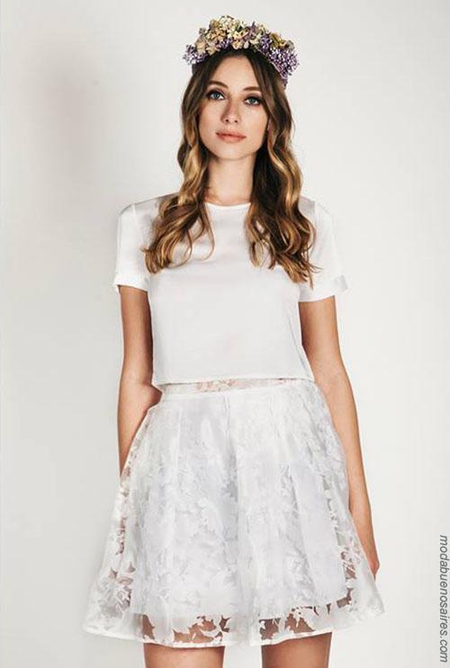 Moda 2018 faldas y blusas de fiesta. Moda 2018.
