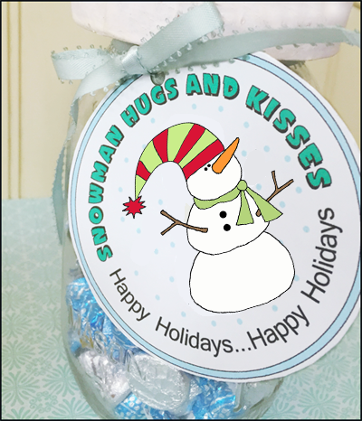 Holiday Hugs and Kisses Label - Bing images