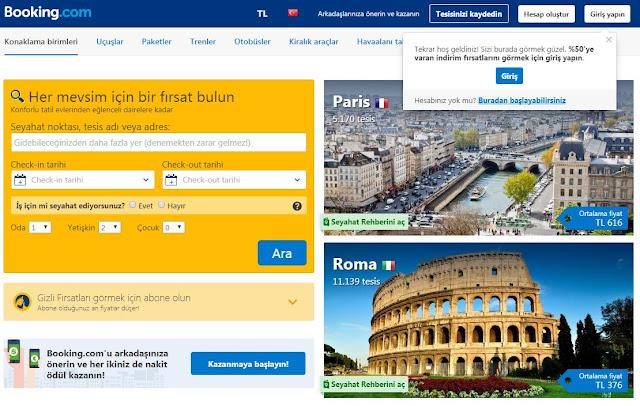 otel arama siteleri - booking.com - seyahat önerileri