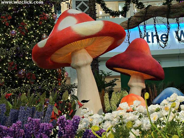 Towering mushroom of Whimsie Forest Christmas Theme 2012 at The Curve Shopping Mall.
