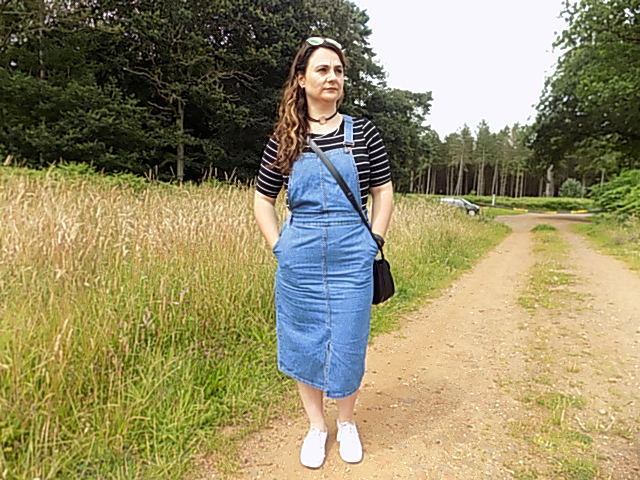 Denim pinafore from newlook