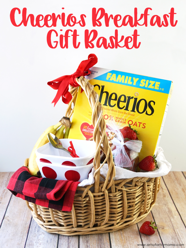 Put together a Cheerios Breakfast Gift Basket for friends and family! #GetOneGiveOne #Cheerios #WithLove