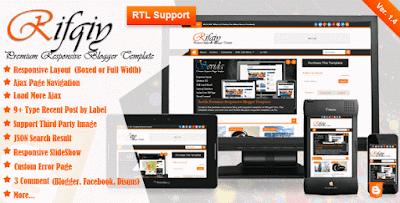 Rifqiy v1.35 Responsive Magazine/News Blogger Template