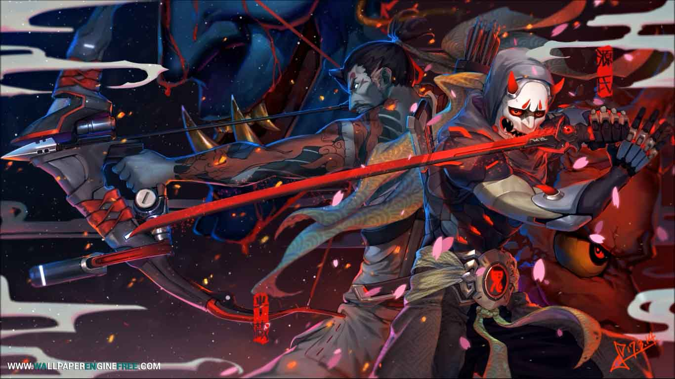 Download Hanzo Genji Overwatch Wallpaper Engine Free