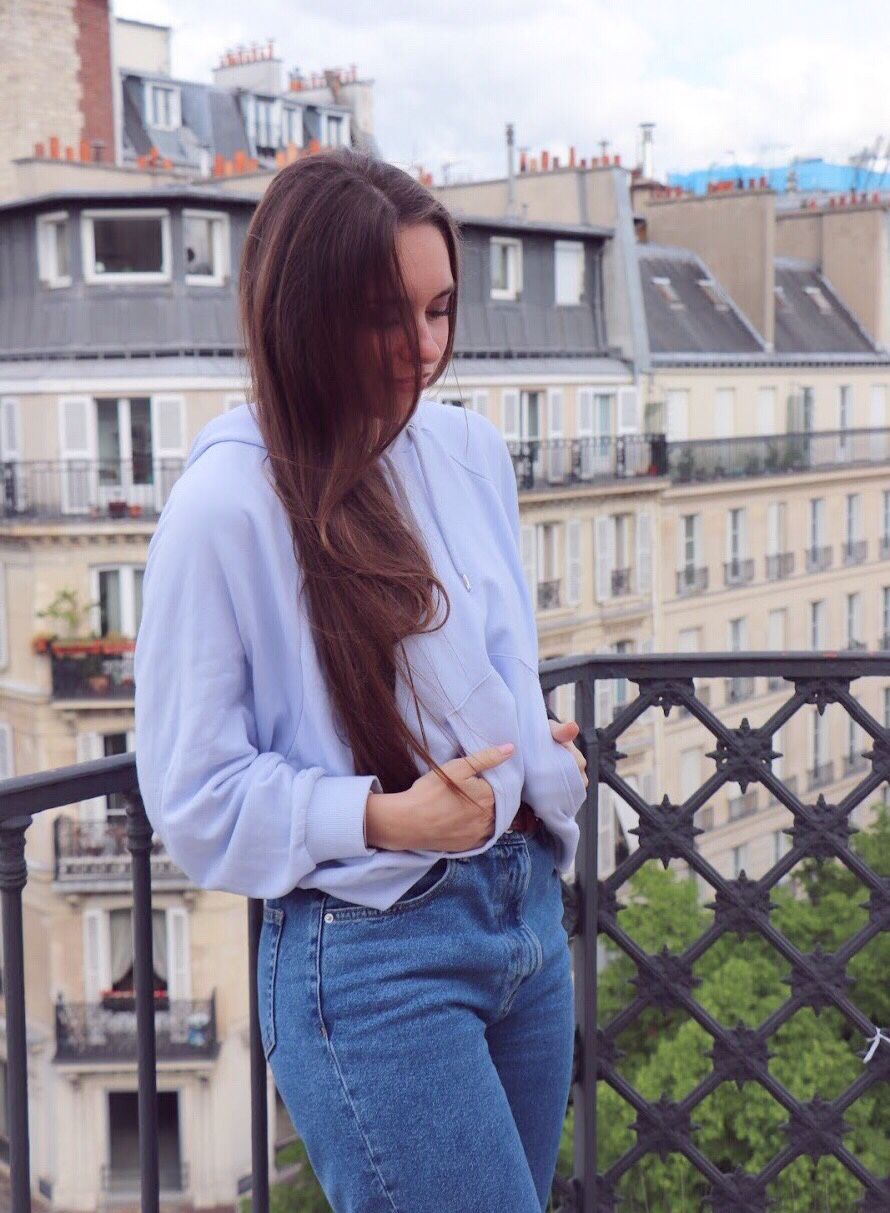 longs cheveux blogueuse
