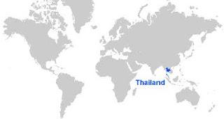 Gambar Peta letak Thailand