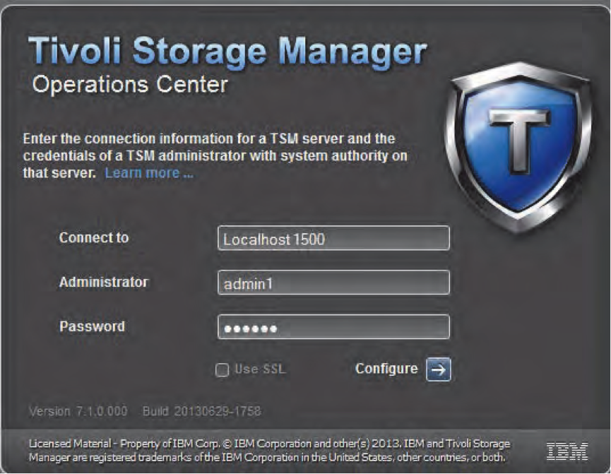 Tivoli Storage Manager Operations Center V7.1 Installation and configuration