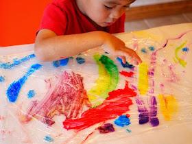 how to make glue suncatcher art with kids