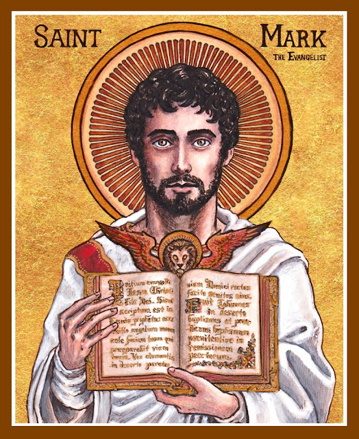 Saint April 25 : St. Mark Evangelist : Patron of Lawyers and #Prisoners