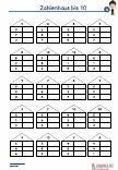 Zahlenhaus bis 10 Arbeitsblatt Aufgaben Übungen PDF