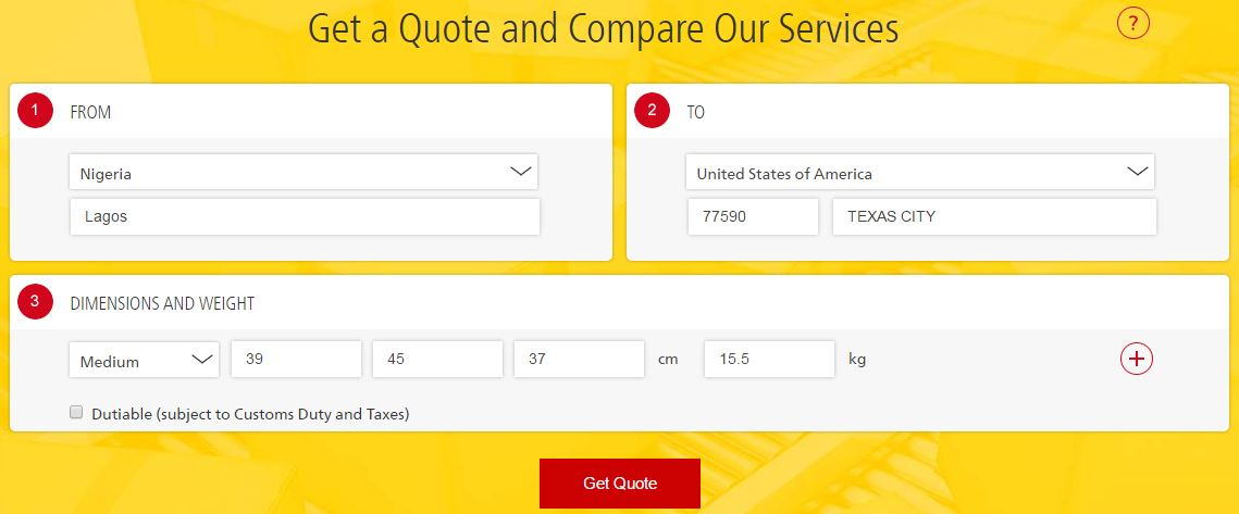 Dhl Quote Interesting Shipping Costs Prices In Nigeria EMS NIPOST Speedpost DHL