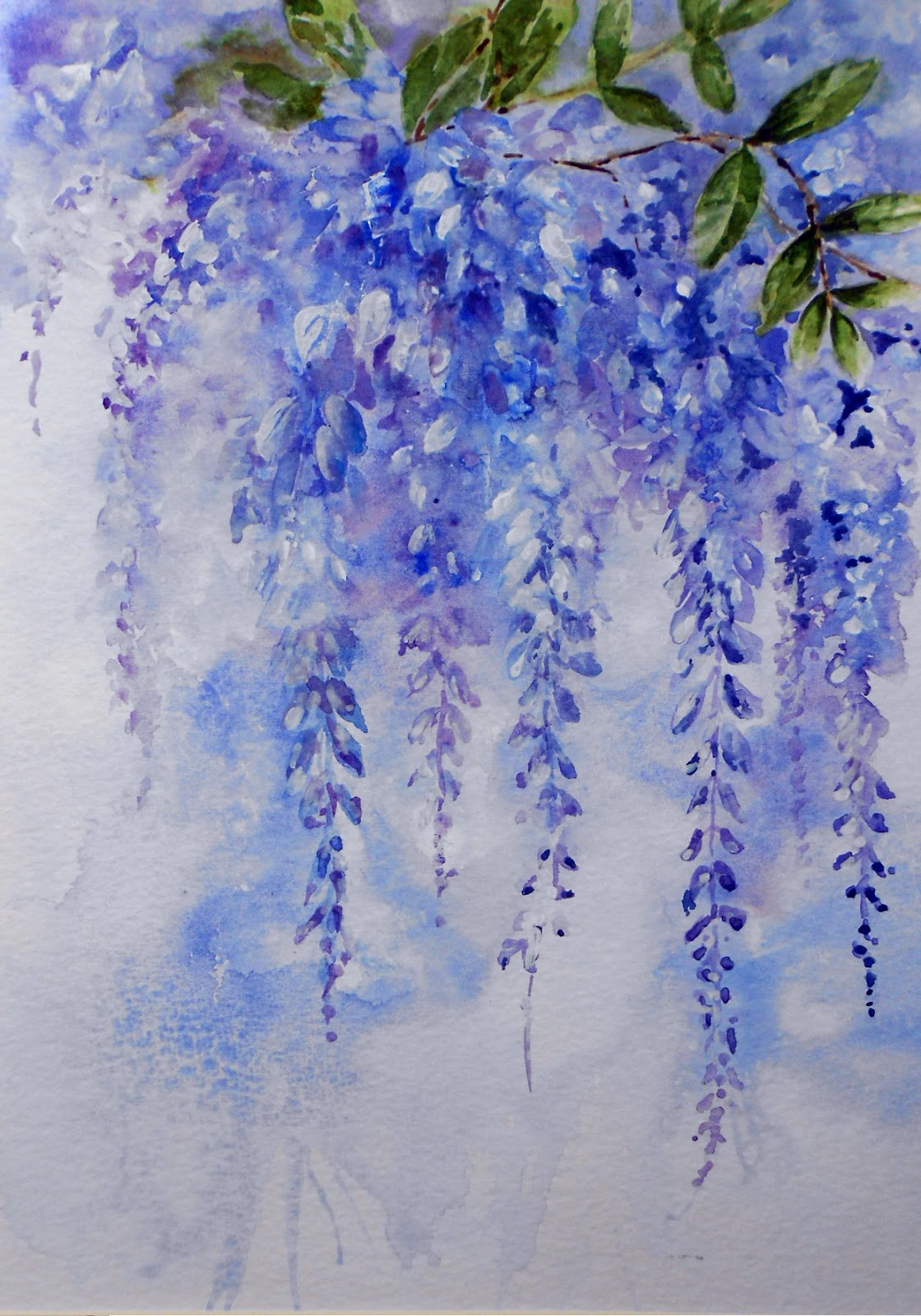 Watercolour Florals Agave And Wisteria