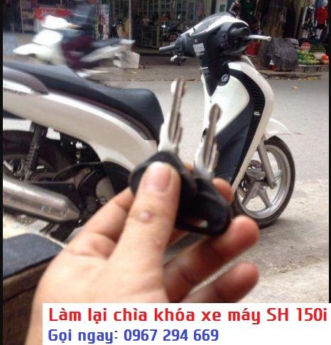 Dịch vụ làm lại chìa khóa xe máy SH 150i nhập khẩu