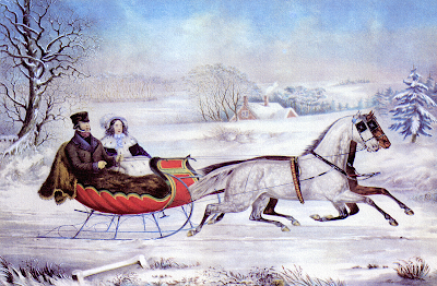 Currier and Ives sleigh ride 1853