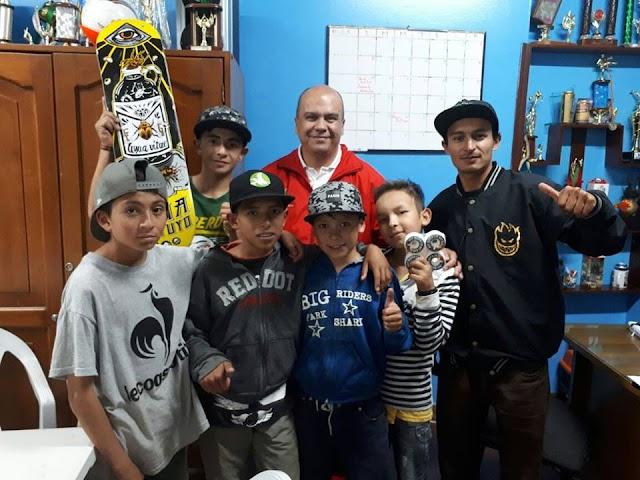 El I.D.R.F. continúa apoyando a los Skaters de Facatativá y la Escuela de Formación en Patinaje de Carreras.