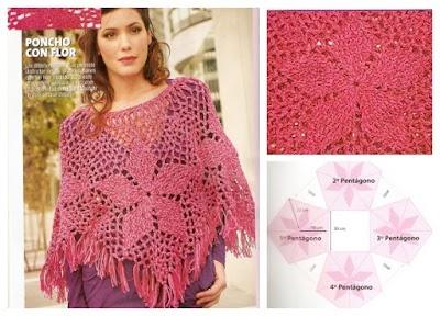 Poncho Coral Crochet Patron
