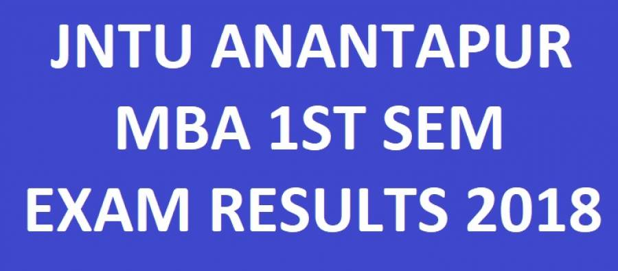 JNTUA MBA 1st Sem Regular Exam Results