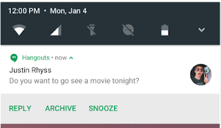 Notifications Android N