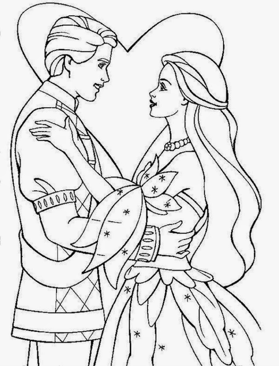 Coloring Pages Wedding Princess