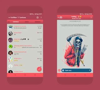 Death Skull Theme For Fouad WhatsApp & YOWhatsApp Create By Nieliton