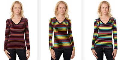 Camisetas multicolor de manga larga, modelo Alexina