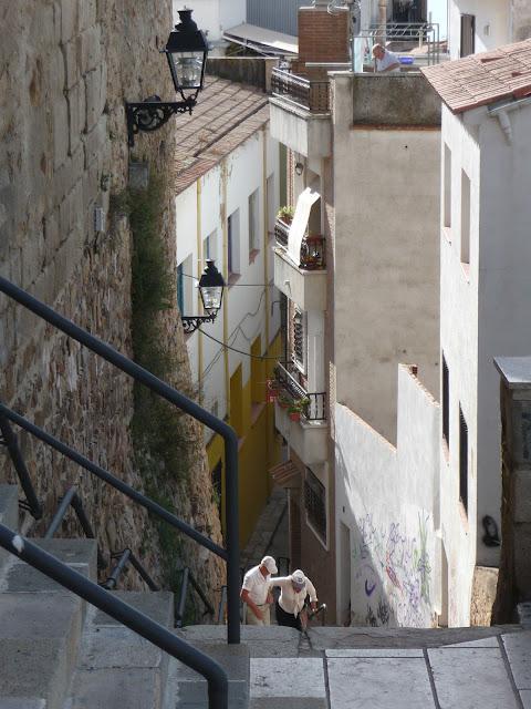 Лестница к костелу Девы Марии в Бланесе