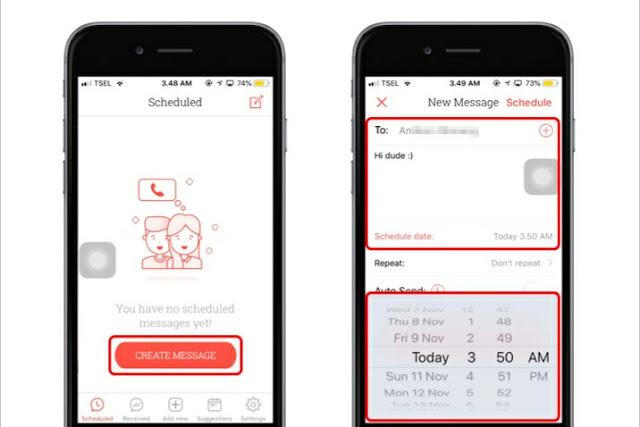 Cara gampang menjadwalkan kiriman pesan di iPhone dengan cepat 6
