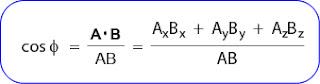 rumus mencari sudut dua buah vektor