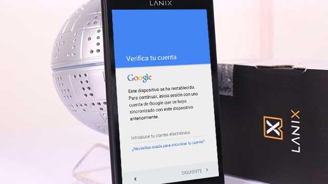eliminar cuenta google Lanix LT520