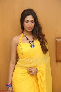 Nishigandha in Yellow backless Strapless Choli and Half Saree Spicy Pics 164.JPG