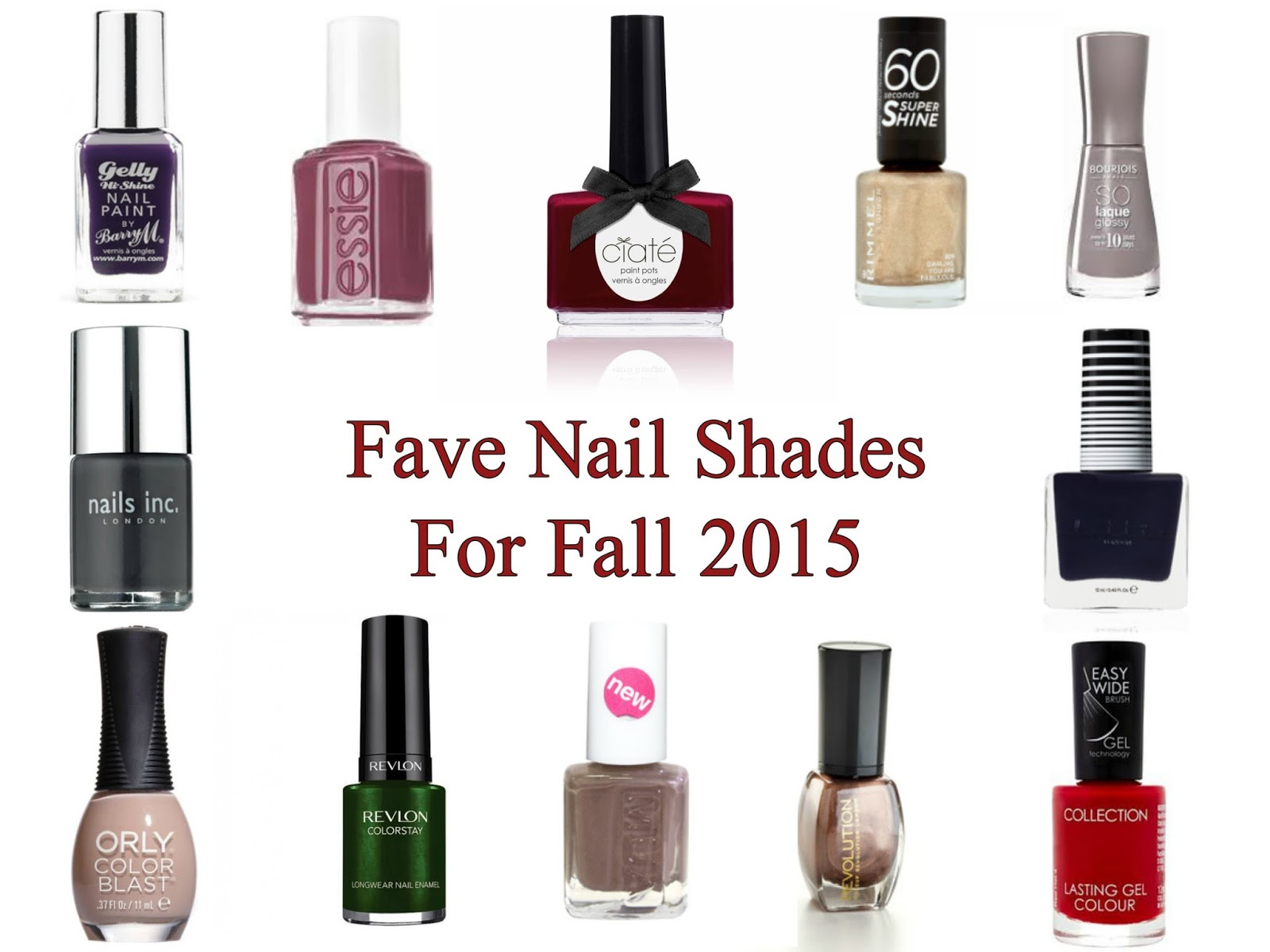 Fave Fall Nail Shades 2015 - Laura Trends