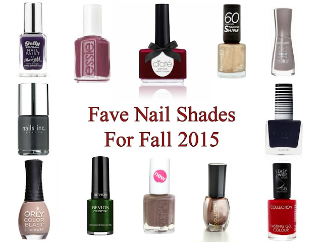 Top picks - Best Shades for Autumn - 2015 - Fall - Nail varnish - Nail polish - nail lacquer - Nail colour trends - Autumn - Winter - Barry M - Essie - Ciate - Rimmel - Bourjois - Nails Inc - Lottie London - Orly - Revlon - MUA - Makeup Revolution - Collection