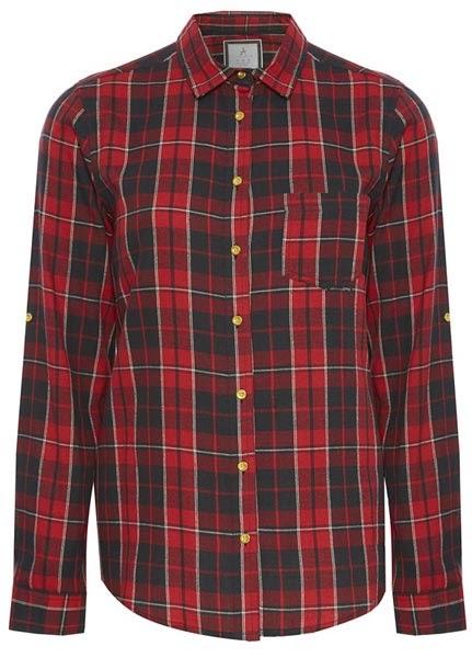 Camisa a cuadros en rojo para mujer del catálogo de Primark