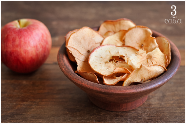 chips maçã receita