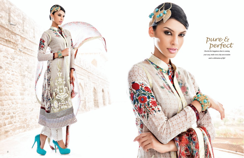 Star Classic Lawn Eid Collection 2014 By Naveed Nawaz ... |Five Star Lawn Eid Collection