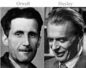 orwell, huxley