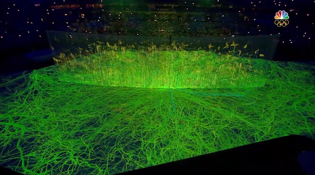 Amazon rain forest projection Rio 2016 Olympic Games Opening Ceremony