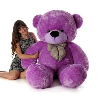 Purple 6ft DeeDee Cuddles from GiantTeddy